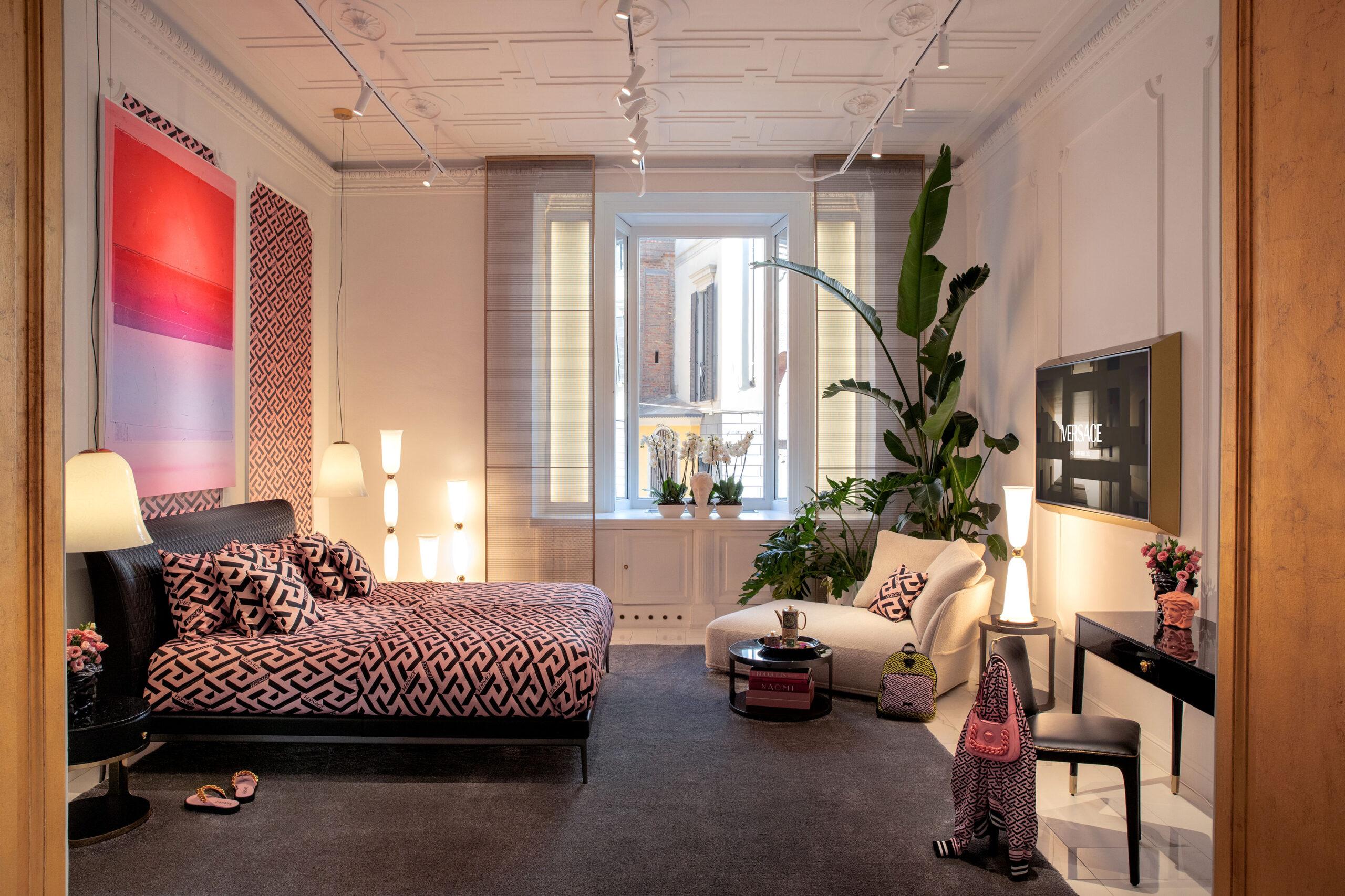 Versace Home, Via Durini boutique, Design Week 2021. Credits Versace